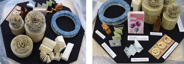 Layout of work by Alix Swan, Phiona Richards, Rachel Hazell in Craft Pod