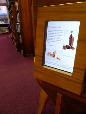 Info Pod at Dunfermline Carnegie Library