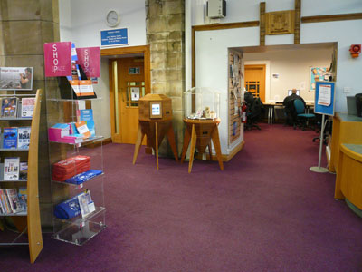 Craft & Info Pods at Dunfermline Carnegie Library