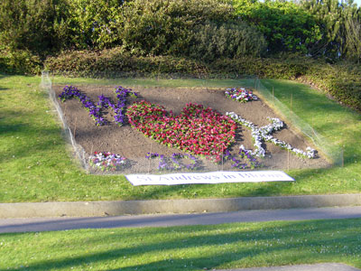 Royal Wedding flowerbed